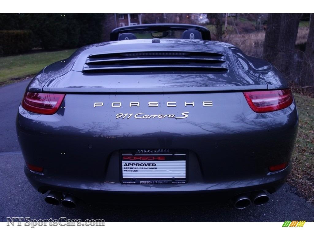 2015 911 Carrera S Cabriolet - Agate Grey Metallic / Black photo #5