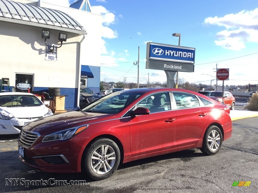 2016 Sonata SE - Venetian Red / Beige photo #1