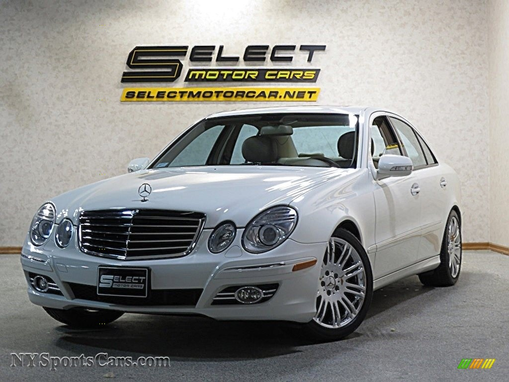 Arctic White / Cashmere Mercedes-Benz E 350 Sedan