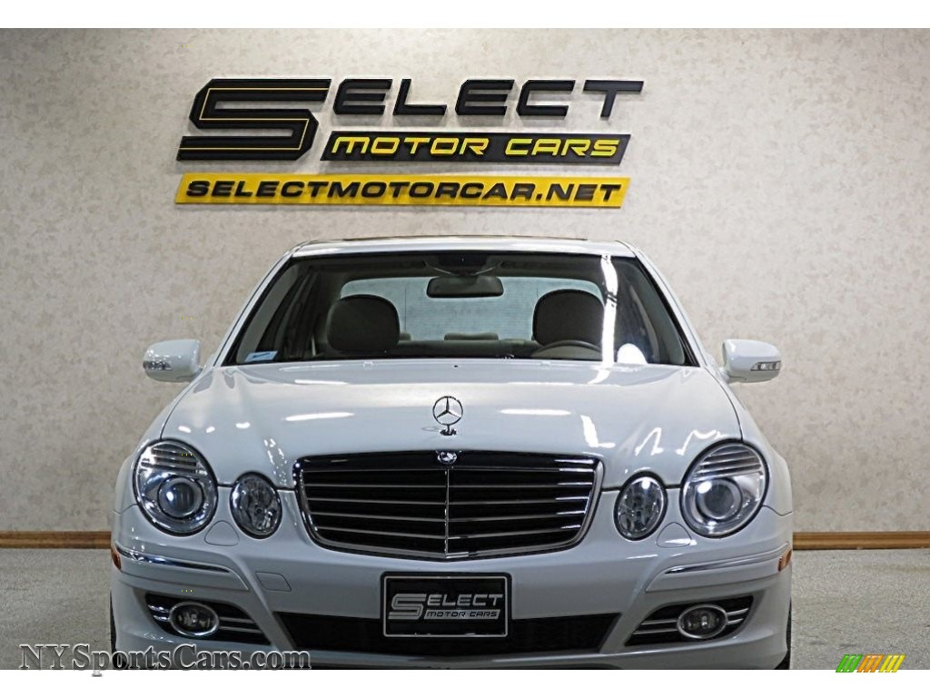 2007 E 350 Sedan - Arctic White / Cashmere photo #2