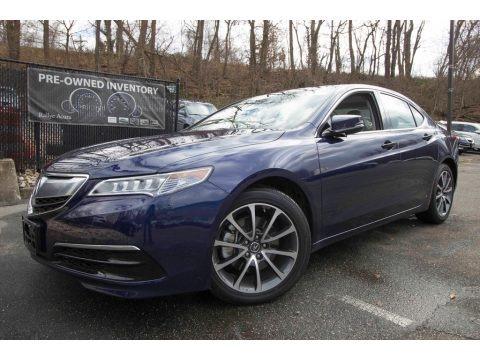 Fathom Blue Pearl 2017 Acura TLX V6 Technology Sedan