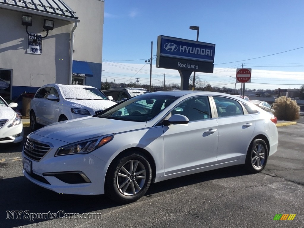 2016 Sonata SE - Quartz White Pearl / Beige photo #1