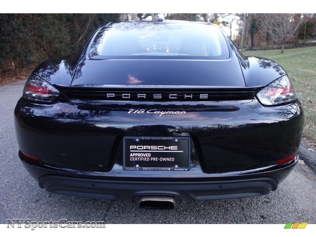 2017 718 Cayman  - Jet Black Metallic / Luxor Beige photo #5