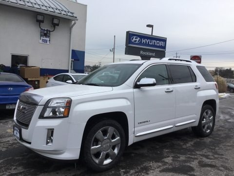 Summit White 2013 GMC Terrain Denali AWD