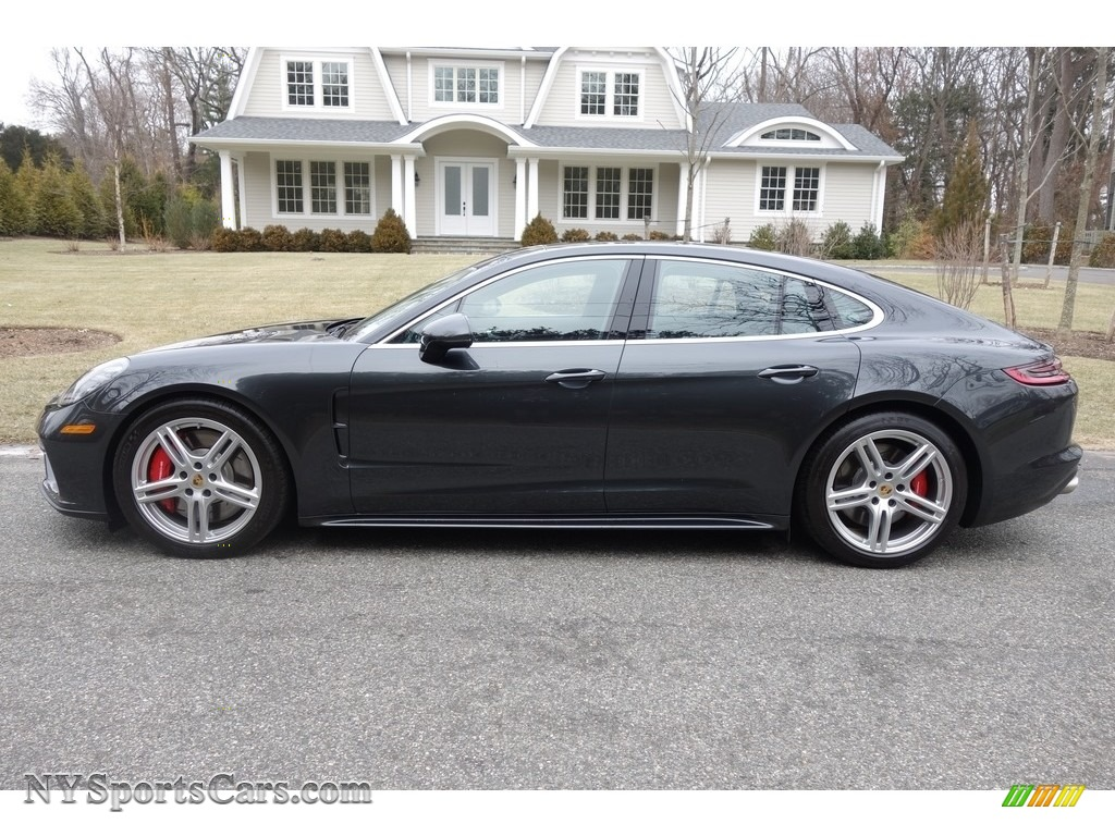 2018 Panamera Turbo - Volcano Grey Metallic / Black/Saddle Brown photo #3