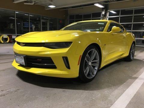 Bright Yellow 2017 Chevrolet Camaro LT Coupe