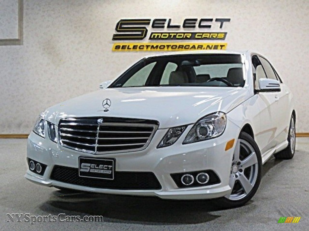 2010 E 350 4Matic Sedan - Arctic White / Almond Beige photo #1