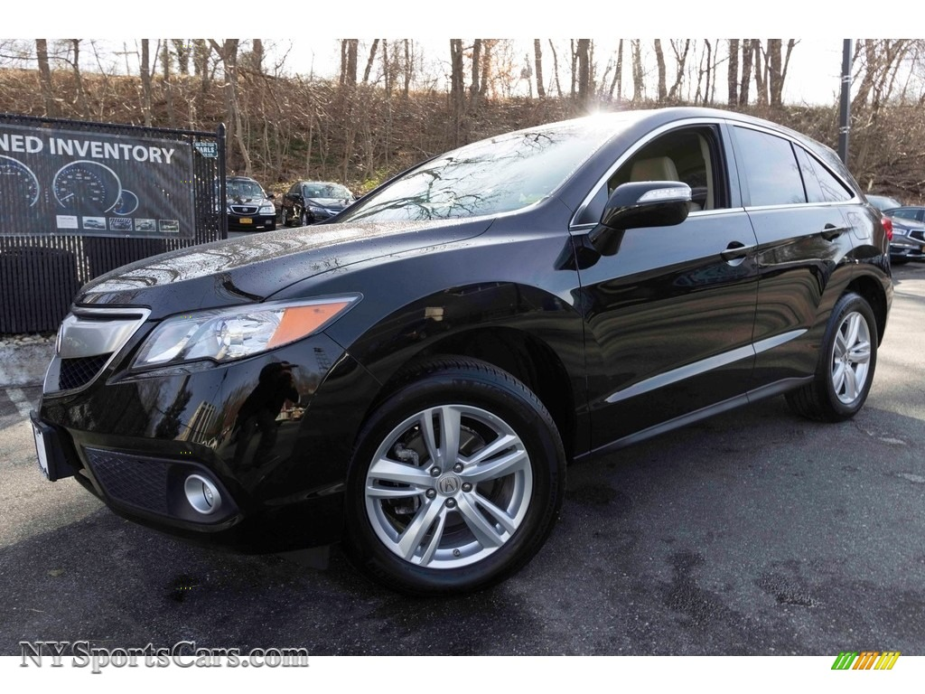 2015 RDX Technology - Crystal Black Pearl / Parchment photo #1