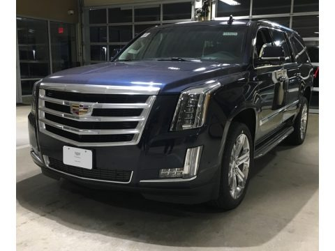 Dark Adriatic Blue Metallic 2018 Cadillac Escalade ESV Luxury 4WD