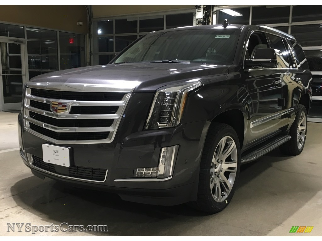 Dark Granite Metallic / Kona Brown/Jet Black Cadillac Escalade Premium Luxury 4WD