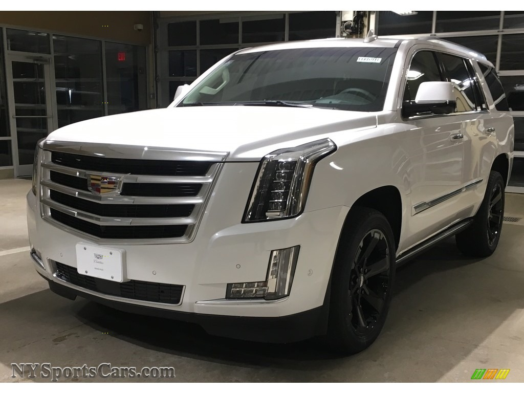 Crystal White Tricoat / Kona Brown/Jet Black Cadillac Escalade Premium Luxury 4WD