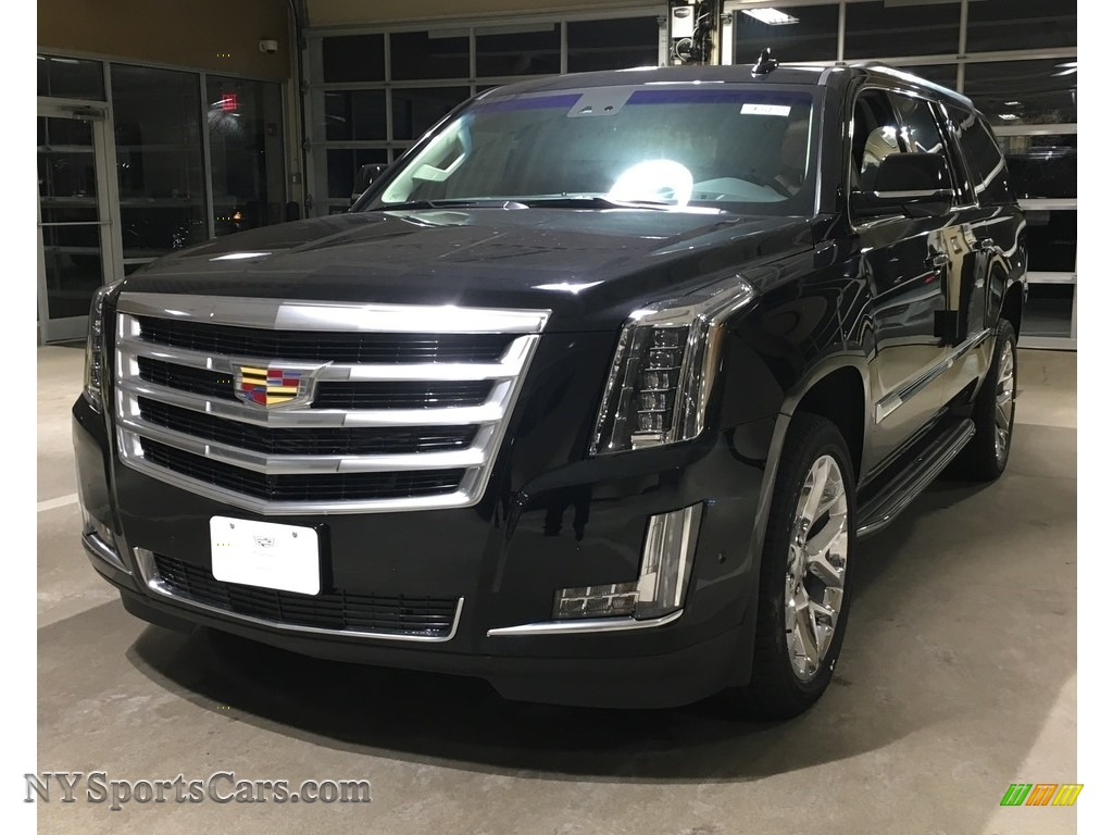 Black Raven / Kona Brown/Jet Black Cadillac Escalade ESV Luxury 4WD