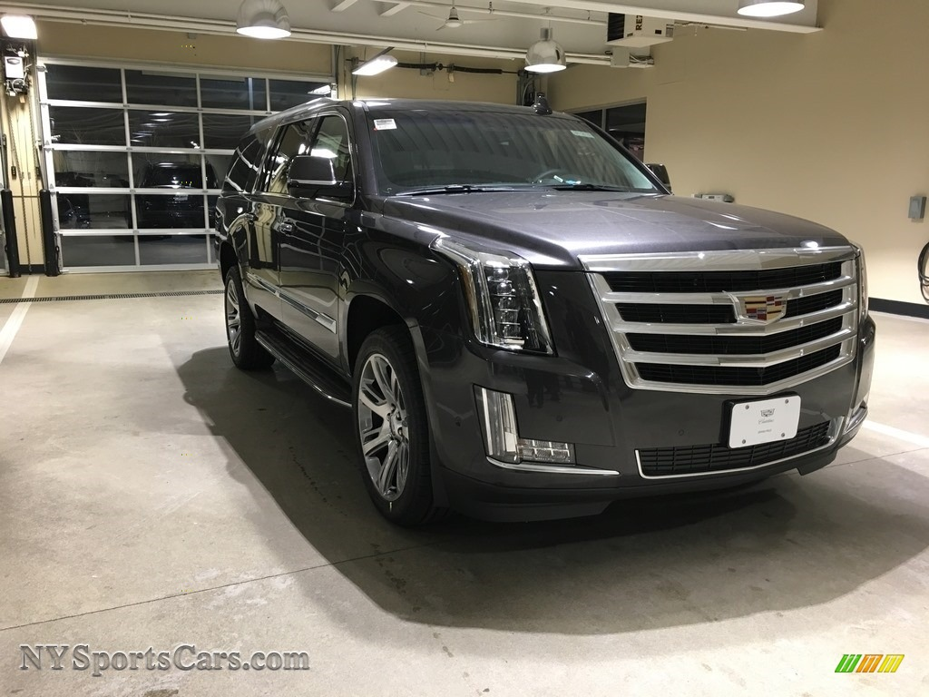 Dark Granite Metallic / Jet Black Cadillac Escalade ESV Luxury 4WD
