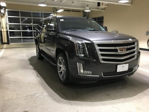 Dark Granite Metallic 2018 Cadillac Escalade ESV Luxury 4WD