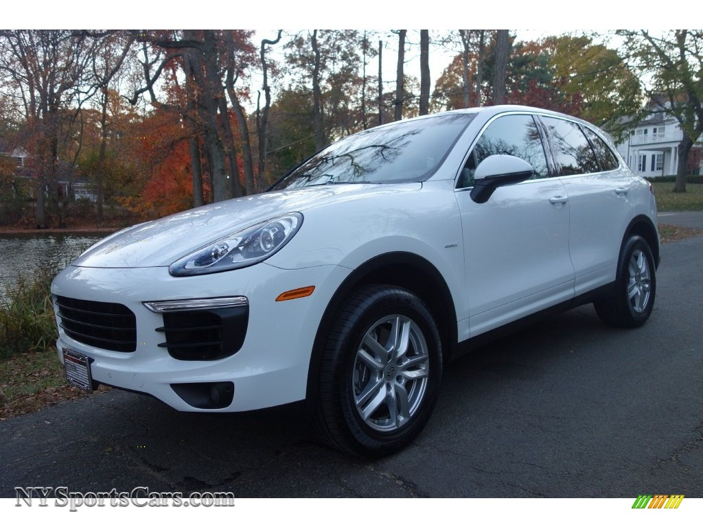 2015 Cayenne Diesel - White / Black photo #1