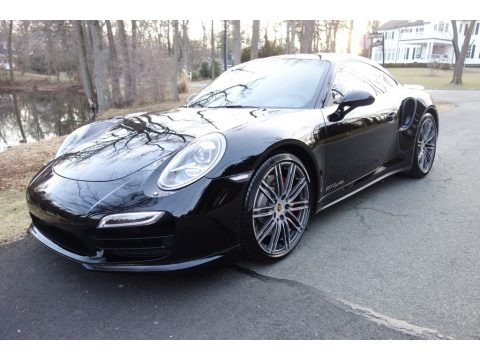 Black 2015 Porsche 911 Turbo Coupe