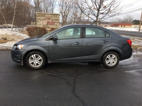 Cyber Gray Metallic 2012 Chevrolet Sonic LS Sedan