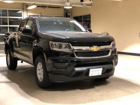 Black 2018 Chevrolet Colorado WT Extended Cab 4x4