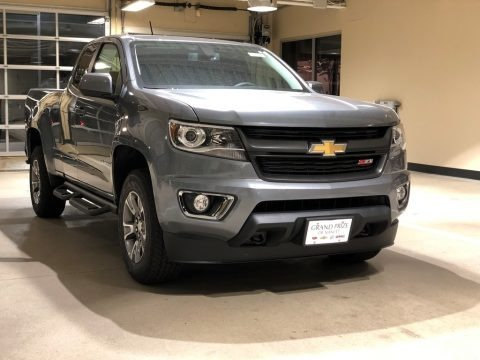 Satin Steel Metallic 2018 Chevrolet Colorado Z71 Extended Cab 4x4