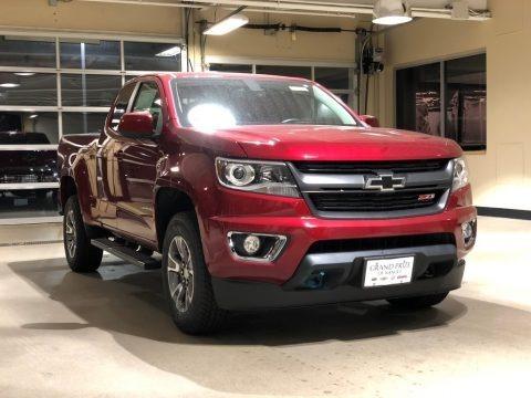 Cajun Red Tintcoat 2018 Chevrolet Colorado Z71 Extended Cab 4x4