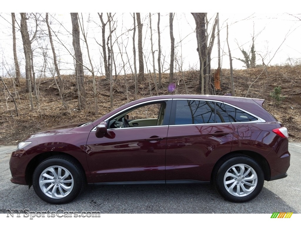 2017 RDX Technology AWD - Basque Red Pearl II / Parchment photo #3