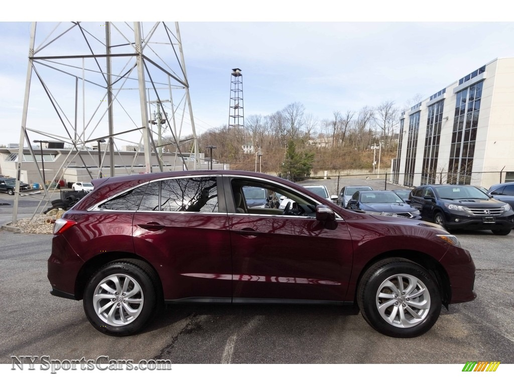 2017 RDX Technology AWD - Basque Red Pearl II / Parchment photo #7