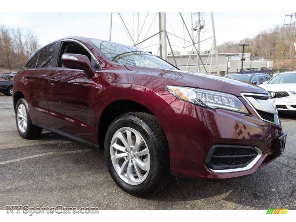 2017 RDX Technology AWD - Basque Red Pearl II / Parchment photo #8