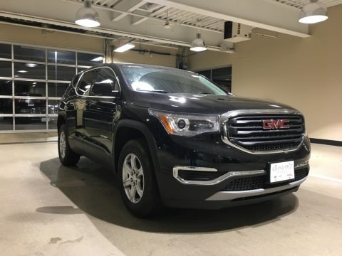 Ebony Twilight Metallic 2018 GMC Acadia SLE AWD