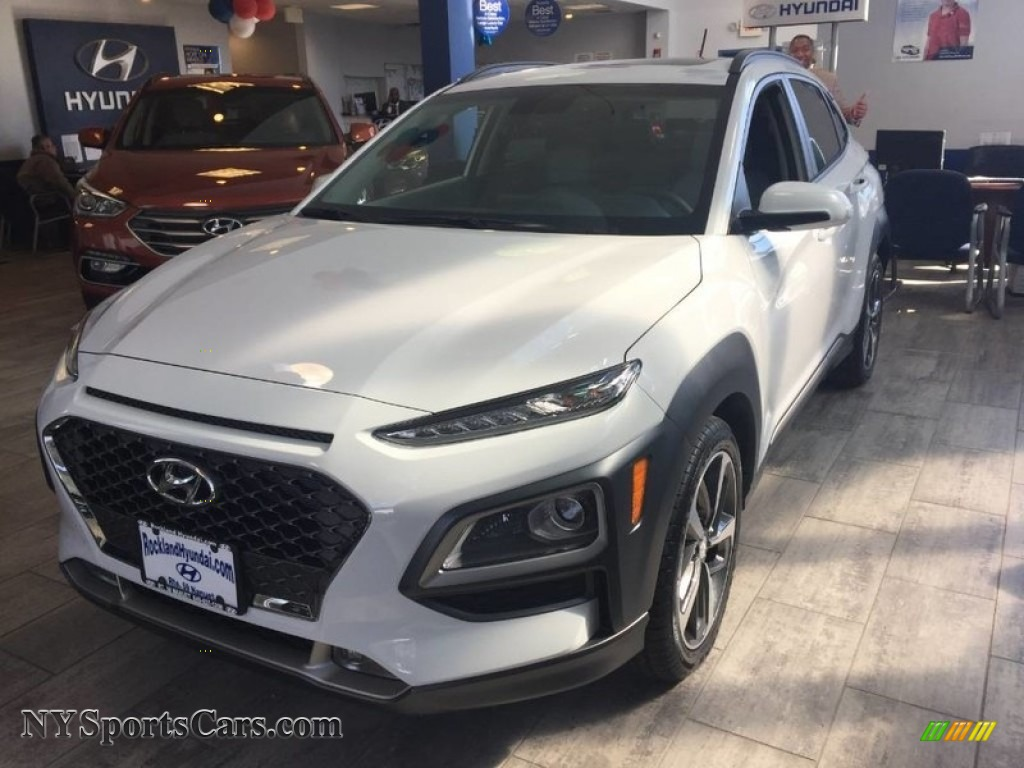 2018 Kona Limited AWD - Chalk White / Gray photo #1