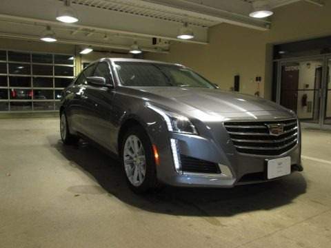Satin Steel Metallic 2018 Cadillac CTS AWD