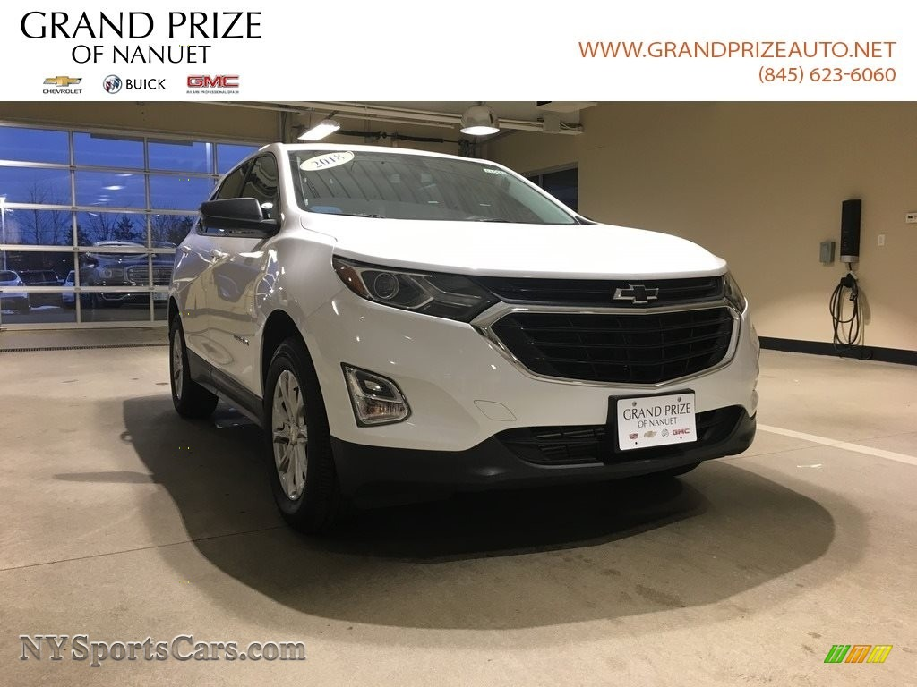 2018 Equinox LS AWD - Summit White / Medium Ash Gray photo #1