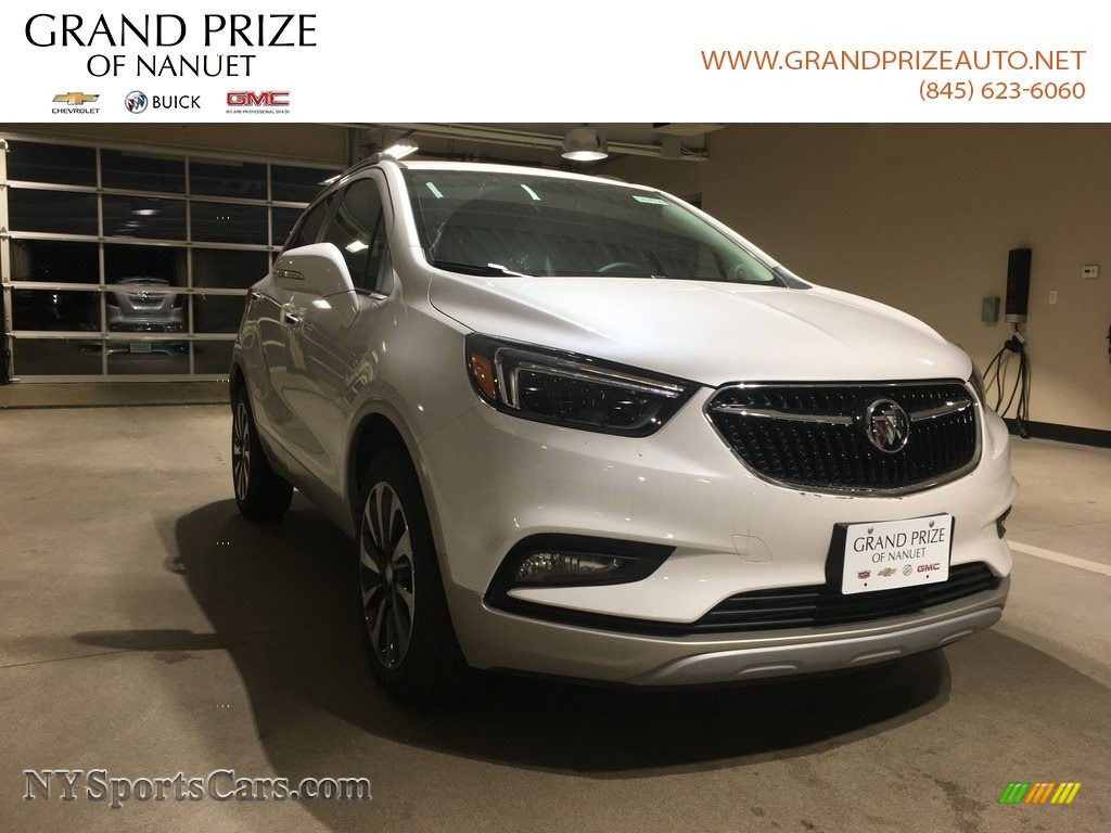 2018 Encore Essence AWD - White Frost Tricoat / Shale photo #1