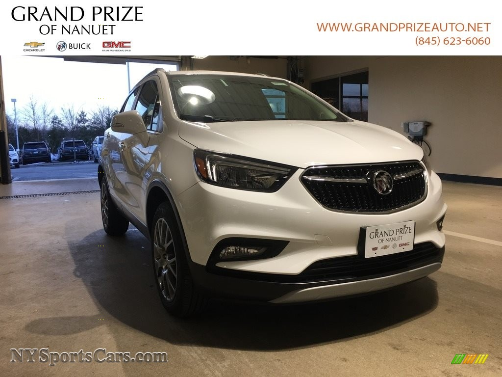 Summit White / Shale Buick Encore Sport Touring AWD