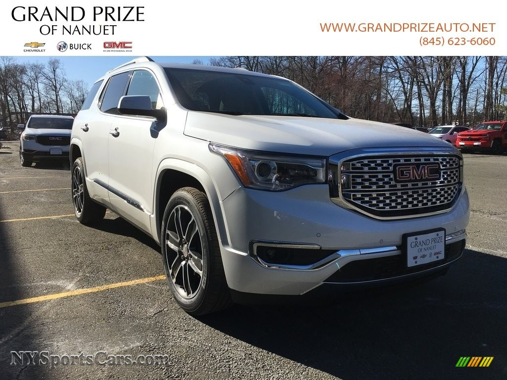 2018 Acadia Denali AWD - White Frost Tricoat / Cocoa/Shale photo #1