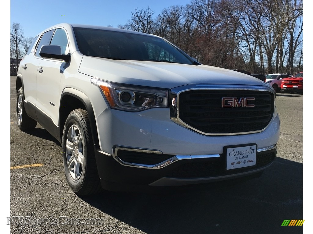 Summit White / Jet Black GMC Acadia SLE AWD