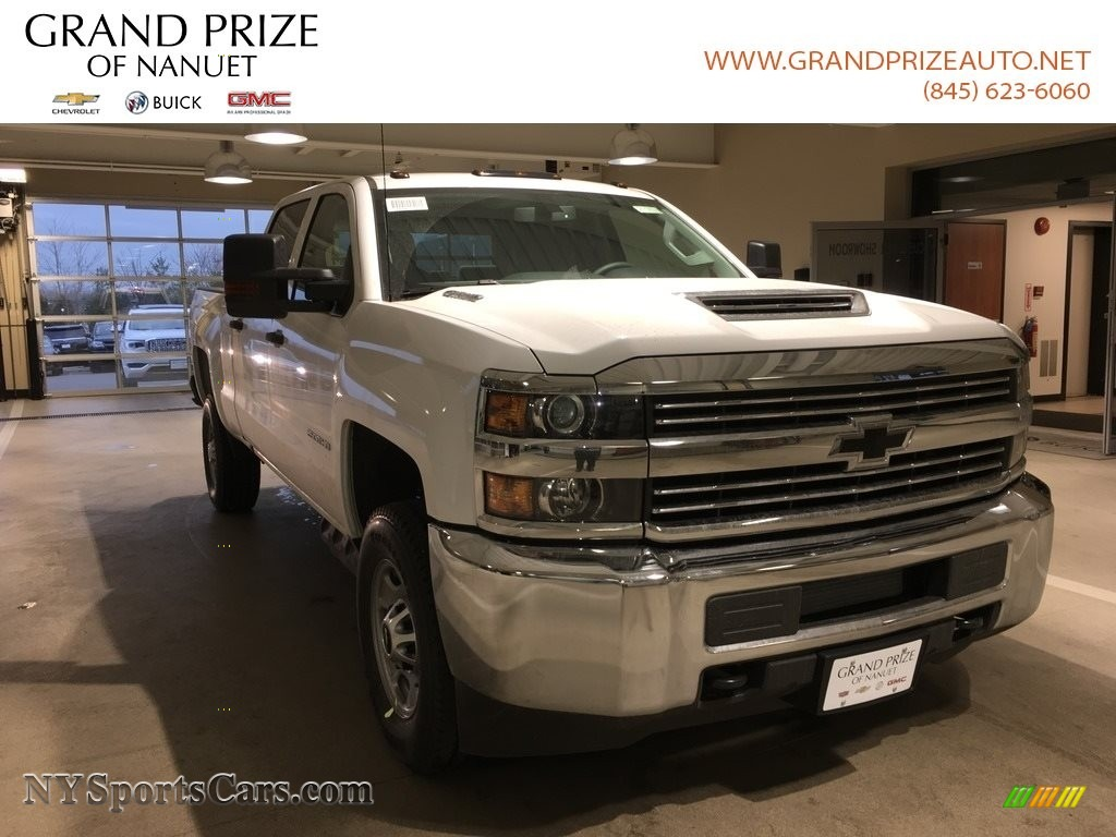 2018 Silverado 2500HD Work Truck Crew Cab 4x4 - Summit White / Dark Ash/Jet Black photo #1