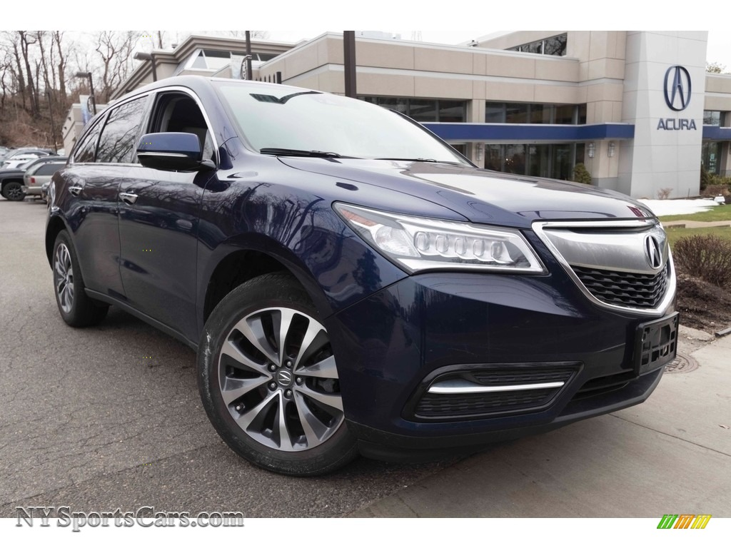 2016 MDX SH-AWD Technology - Fathom Blue Pearl / Graystone photo #1