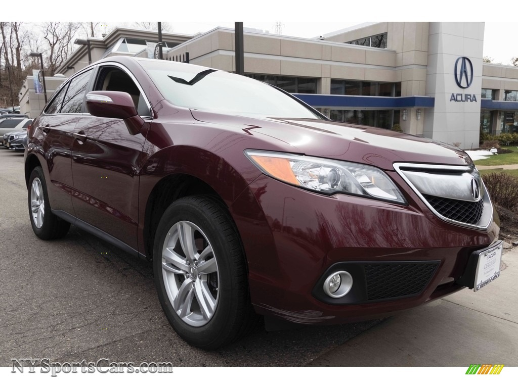 Basque Red Pearl II / Parchment Acura RDX Technology AWD