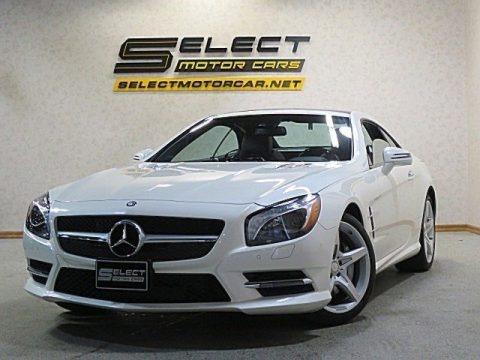 designo Diamond White Metallic 2015 Mercedes-Benz SL 550 Roadster