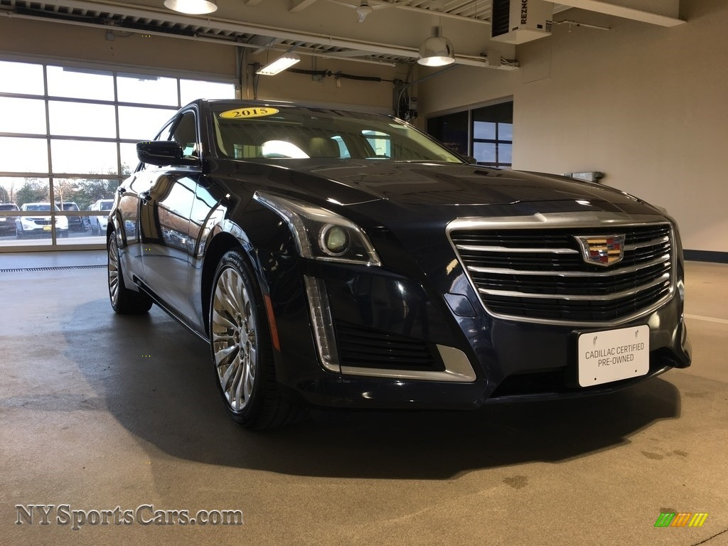 2015 CTS 2.0T Luxury AWD Sedan - Dark Adriatic Blue Metallic / Light Cashmere/Medium Cashmere photo #1