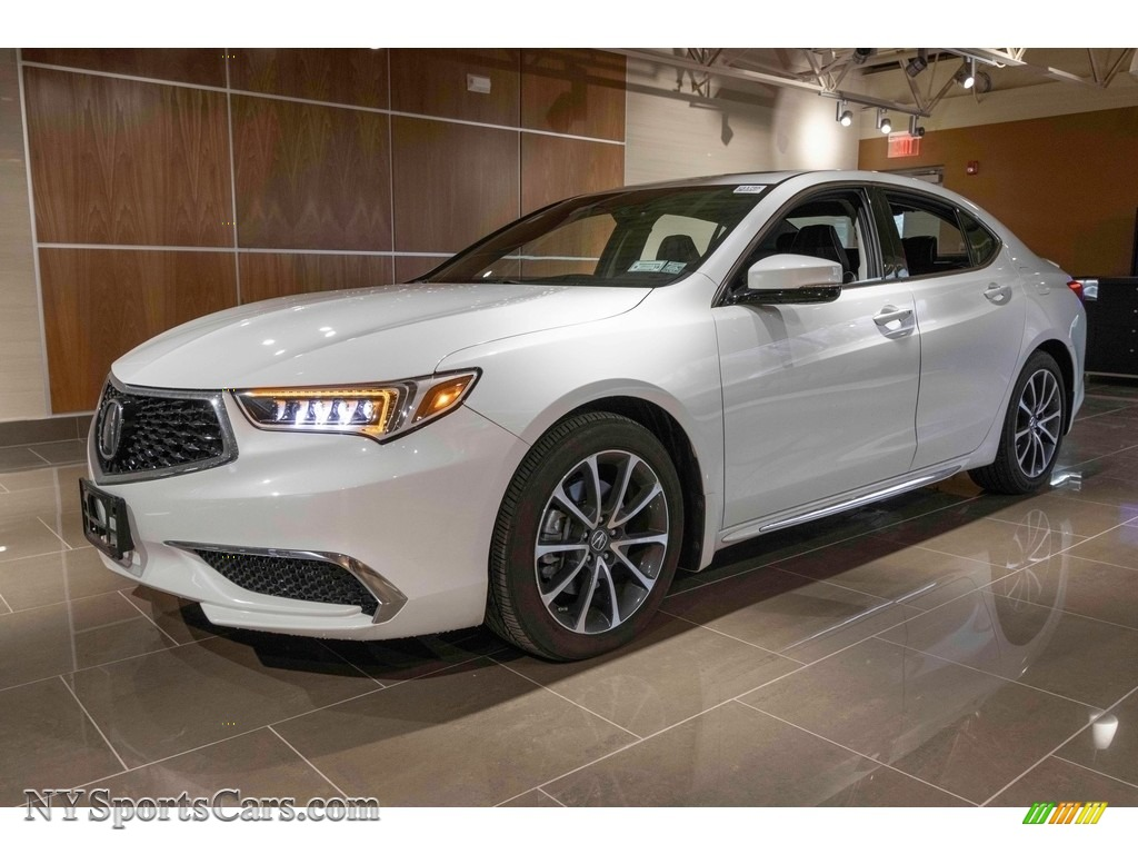 2018 TLX V6 Technology Sedan - Bellanova White Pearl / Ebony photo #1