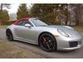 Porsche 911 Carrera 4S Cabriolet GT Silver Metallic photo #9
