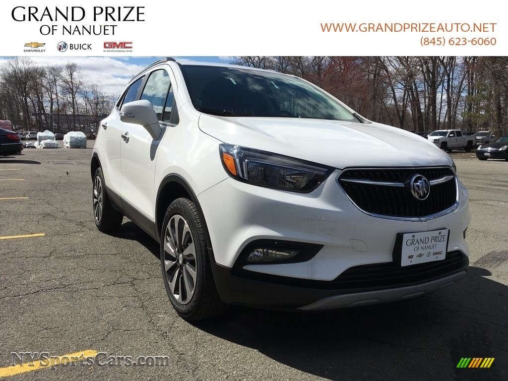 2018 Encore Preferred II AWD - Summit White / Ebony photo #1