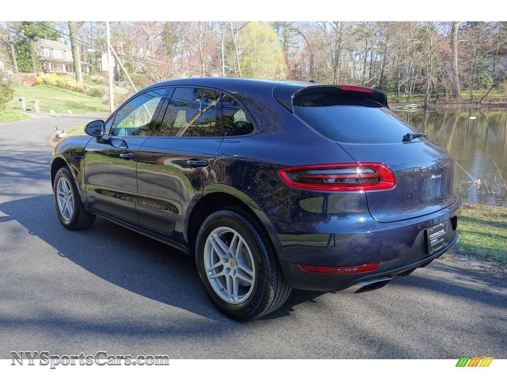 2018 Porsche Macan In Night Blue Metallic Photo 4 B03058 Nysportscars Com Cars For Sale In New York