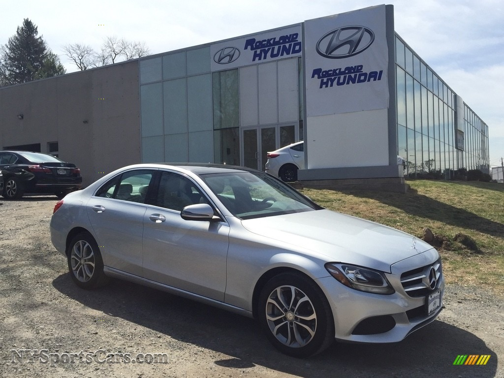 2016 C 300 4Matic Sedan - Iridium Silver Metallic / Crystal Grey/Black photo #1