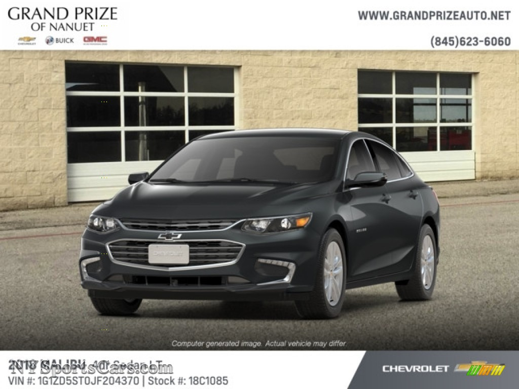 2018 Malibu LT - Nightfall Gray Metallic / Jet Black photo #1