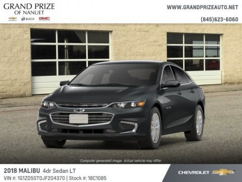 Nightfall Gray Metallic 2018 Chevrolet Malibu LT