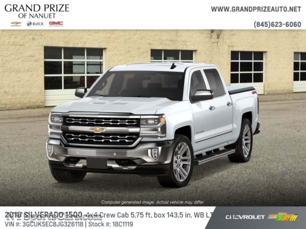 2018 Silverado 1500 LTZ Crew Cab 4x4 - Summit White / Cocoa Dune photo #1