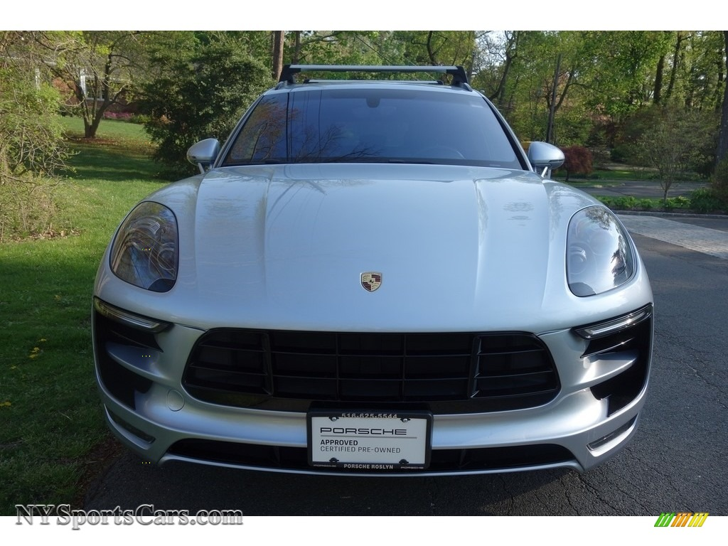 2015 Macan Turbo - Rhodium Silver Metallic / Saddle Brown photo #2