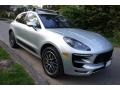 Porsche Macan Turbo Rhodium Silver Metallic photo #8